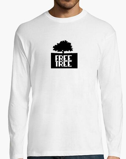 Camiseta Free Tree con letras en blanco