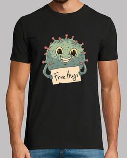 free virus umarmt shirt herren