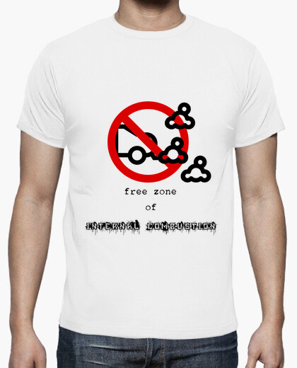Free zone of internal combustion t-shirt
