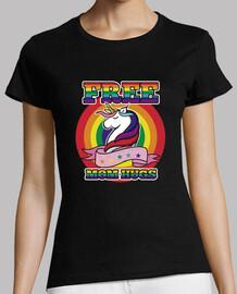 freie mutter umarmt lgtb homosexuell pride