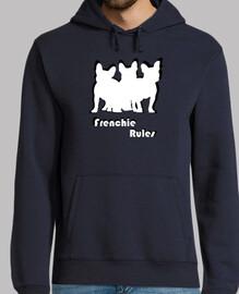 Frenchie Rules - Bulldog frances - Estilo tula - silueta