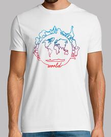 freundliches weltjungen- t-shirt