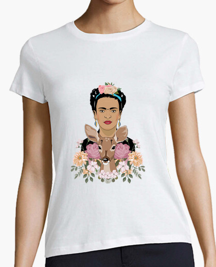 Frida and her pet t-shirt