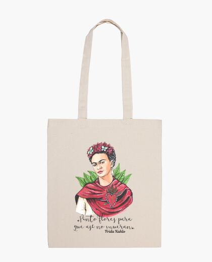 Bolsa Frida Kahlo Pinto flores...