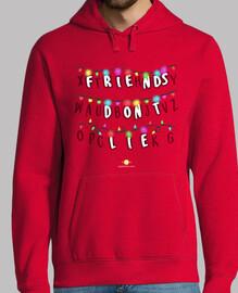 Friends don't lie - Stranger Things - Hombre, sudadera, gris grafito