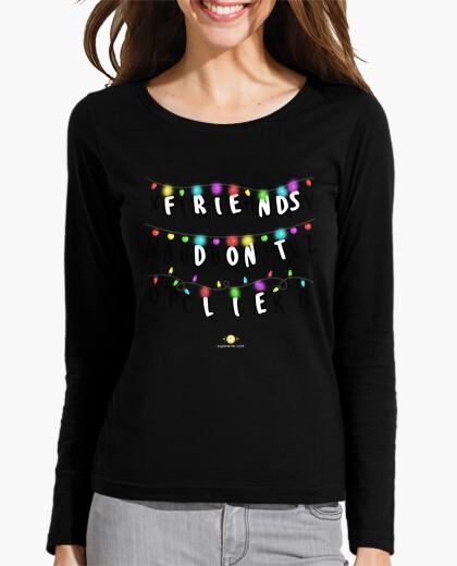 revisa comprar baratas mejor lugar para Camiseta Friends don't lie - Stranger Things - Mujer, manga larga, negra