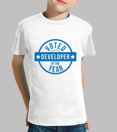 friki camisa de niño: desarrollador del año