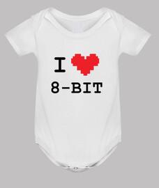 friki del bebé mono de amo de 8 bits