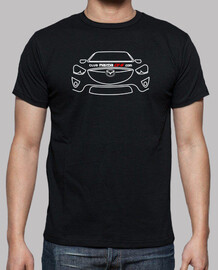 front shirt white mazda cx-5 - 1 sided