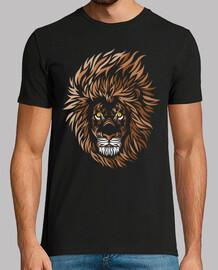 frontale de lion tribal