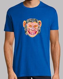 fronte testa bassa scimpanzé poligono
