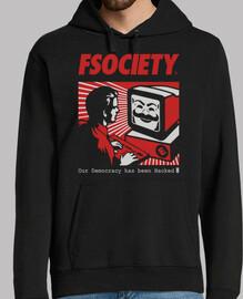 fsociety - Mr. ROBOT (sudadera + capucha)