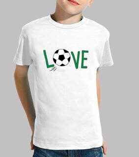 fußball, t-shirt junge und mädchen