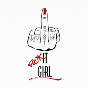 Tee-shirts Fuck It Girl Black 2