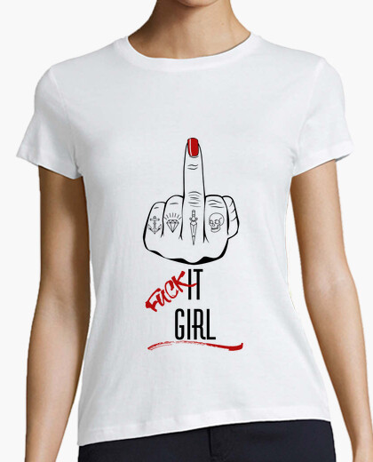 Fuck it girl black 2 t-shirt