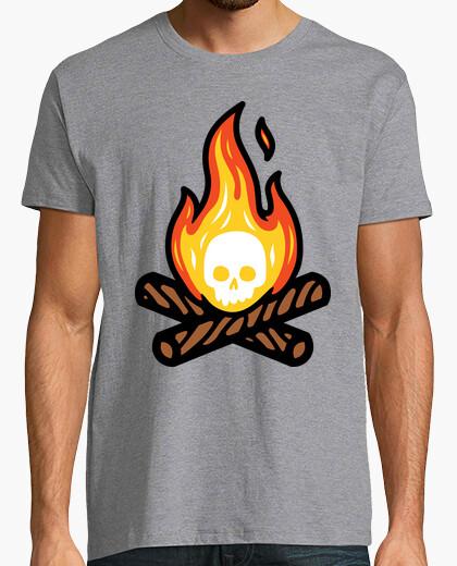 Camiseta fuego de cráneo