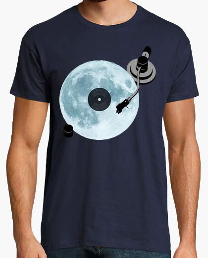 Tee-shirt full moon / vinyl / dj / lecteur de dis