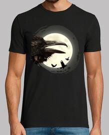 full moon crows
