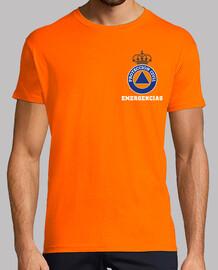 Fullcolor civil protection emergencies on orange