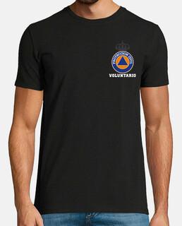 Fullcolor protection civile volontaire sur le noir