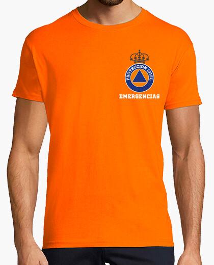 Tee-shirt Fullcolor urgence de la protection civile sur l'orange