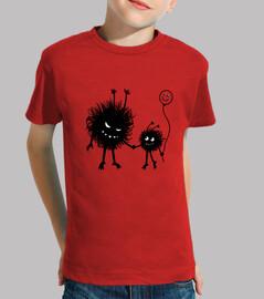 fun design con two evil cartoni animati personaggi - evil fiore bug mother andando for una passeggia
