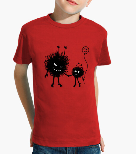 Fun design with two evil cartoon characters - Evil Flower Bug mother going for a walk on Mother's Da children's clothes