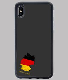 FUNDA ALEMANIA IPHONE XS MAX MAPA 3D BANDERA NOMBRE