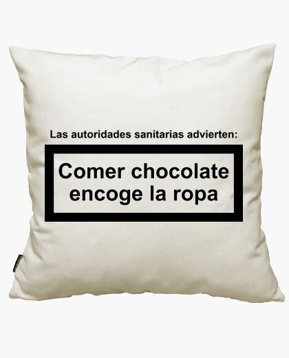 Funda cojín Comer Chocolate Encoge La Ropa