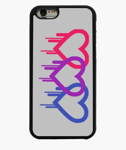 Funda iPhone 6 / 6S Funda corazón bisexual
