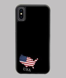 FUNDA EEUU IPHONE X/XS MAPA 3D BANDERA NOMBRE