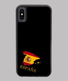 FUNDA ESPAÑA IPHONE X/XS MAPA 3D BANDERA NOMBRE