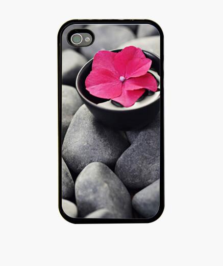 Funda iPhone funda flor piedras