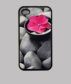 funda flor piedras