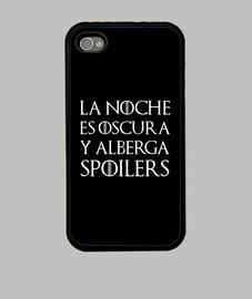 Funda iPhone 4/4S - Juego de Tronos 'La noche es oscura y alberga spoilers'