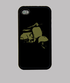 Funda iPhone 4/4S - Vespa oliva