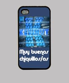 Funda Iphone 4/4S con logo y frase inicial de Kevinut