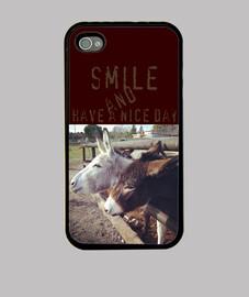 Funda iPhone 44S Happy donkeys