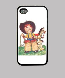 Funda iPhone 4/4S Pequeño cowboy