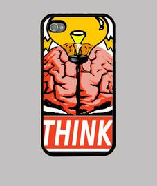 Funda iPhone 4/4S Think.