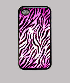 Funda iPhone 4 - Rosa. Blanca y Negra
