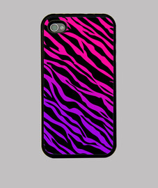 Funda iPhone 4 - Rosa y Violeta