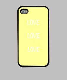 Funda iPhone 4, amarillo pollo