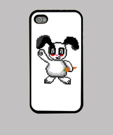 Funda iPhone 4 de conejo pixel art