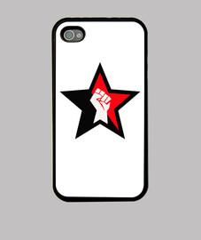 Funda iPhone 4 Estrella roja con puño