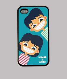 Funda iPhone 4 Humor & Amor (varios modelos)