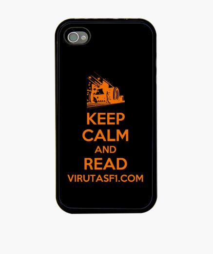 Funda iPhone 4 Keep calm and read VirutasF1