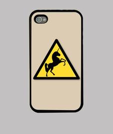 Funda IPhone 4 marrón Alerta Unicornios