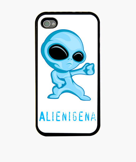 Funda iPhone 4, negra Alienígena
