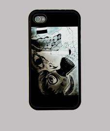 Funda iPhone 4, negra Apocalipsis.